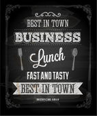 Chalkboard Business Lunch Poster — 图库矢量图片
