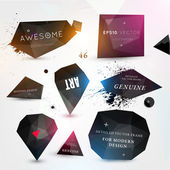 Labels vector set, modern style. — Stock Vector