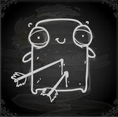 Cute Hand Drawn Vector illustration — Stock Vector