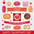 Happy Valentines Day Cards Set — Stock Vector #43258079
