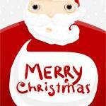Santa Claus with Speech Bubble. — Stock Vector #43258621