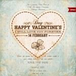 Valentine Day Heart. Vector Illustration. — Stock Vector #43258803