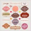 Valentine's Day and Wedding Set. Labels — Vecteur