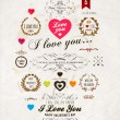 Set of Happy Valentine's Day Labels — Cтоковый вектор