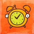 Cartoon Alarm Clock. — Stock Vector