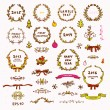 Cute Christmas Wreath, Dividers, Bow, Christmas Tree — Stock vektor #43259481