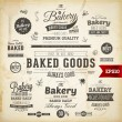 Set of vintage bakery logo badges and labels — Stock Vector #43259785