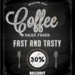 Chalkboard Poster Lettering Coffee — Stock Vector #43259925