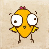 Cartoon Chick Bird. — Stock Vector