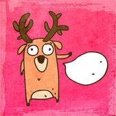 Cartoon Deer. — Stock Vector