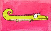 Cartone animato coccodrillo. — Vettoriale Stock