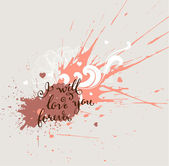 I will love you forever - Calligraphic Lettering — Stock Vector