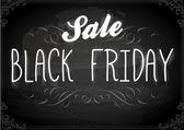 Black Friday Calligraphic Chalkboard Design — Stock Vector