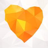 Vector mosaico geométrico corazón — Vector de stock