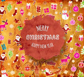 Vintage Paper Christmas Background — Vecteur