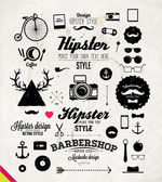 Hipster style infographics elements and icons — Stock Vector