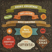 Set of Christmas design elements for Xmas art — Vettoriale Stock