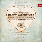 Valentine Day Heart. Vector Illustration. — Vector de stock