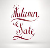 Autumn Sale Hand Lettering. — Stock Vector