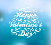 Happy Valentine's Day Design. — Vector de stock