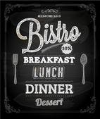 Bistro Chalkboard Poster — Stock Vector