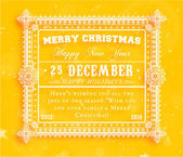 Christmas typographic label for Xmas — Stock Vector