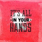 """""""zijn allen in uw handen"""" — Stockvector"""