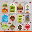 Christmas labels, tags, badges and holiday icons set. — Stock Vector #43260119