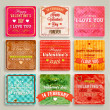 Happy Valentines Day Cards Set — Vettoriale Stock  #43260247
