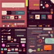 Flat Web Design and Infographics Elements set. Buttons — Stock Vector