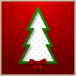 Christmas tree vector card — Stock Vector