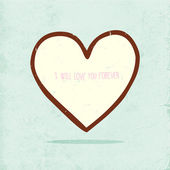 Cute Valentine Day Heart. — Vecteur