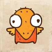 Cartoon Bird Chick. — Stock Vector