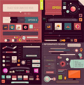 Flat Web Design and Infographics Elements set. Buttons — Vector de stock