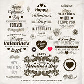 Set Of Happy Valentine's Day Labels — Stok Vektör