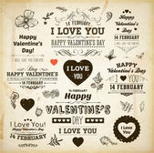 Set Of Happy Valentine's Day Labels — Vecteur