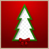 Christmas tree vector card — Vetorial Stock