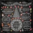 Christmas Chalk Decoration Collection — Vecteur #43334001