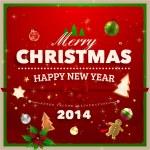Christmas Greeting Card. — Stock Vector #43334091