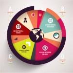 Modern design infographic template. — Stock Vector #43334697
