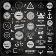 Hipster style infographics elements and icons set — Wektor stockowy