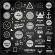 Hipster style infographics elements and icons set — Vecteur #43335459