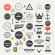 Hipster style infographics elements and icons set — Stok Vektör