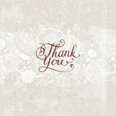 Hand Made Calligraphy Lettering Thank You. — Stok Vektör