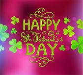 Saint Patricks Day Vector Background — Stock Vector