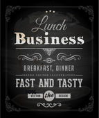 Chalkboard Business Lunch Poster — Stock Vector