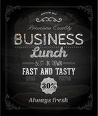 Chalkboard Business Lunch Poster — ストックベクタ