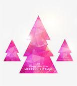 Geometric mosaic christmas tree — Stock Vector