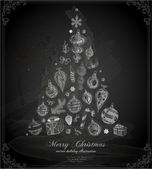 Christmas Chalkboard Vector Illustration. — Stock Vector