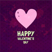 Cute Valentine Day Heart. — Vector de stock